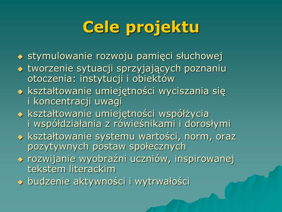 Cele projektu Cel ogólny - wspieranie wszechstronnego rozwoju psychofizycznego uczniów Specjalnego Ośrodka Szkolno –Wychowawczego Nr 2 w Elblągu. Cele