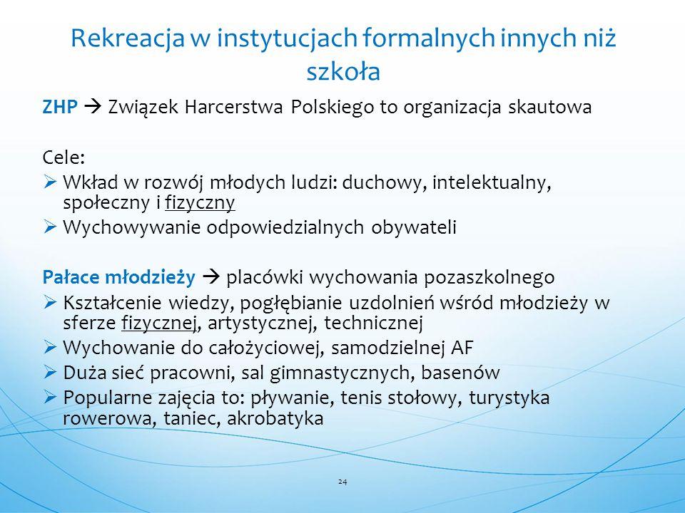 ZHP  Związek Harcerstwa Polskiego to organizacja skautowa Cele:  Wkład w rozwój młodych ludzi: duchowy, intelektualny, społeczny i fizyczny  Wychow