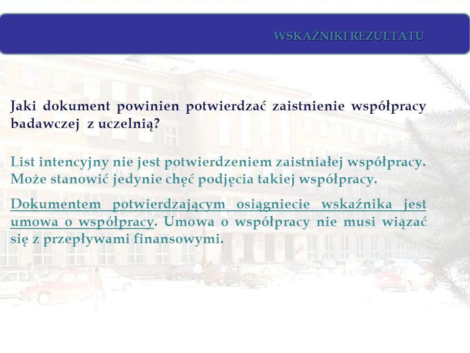 Jaki dokument powinien potwierdzać zaistnienie współpracy badawczej z uczelnią.
