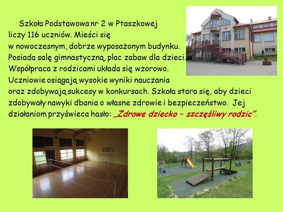 Szkoła Podstawowa nr 2 w Ptaszkowej liczy 116 uczniów.