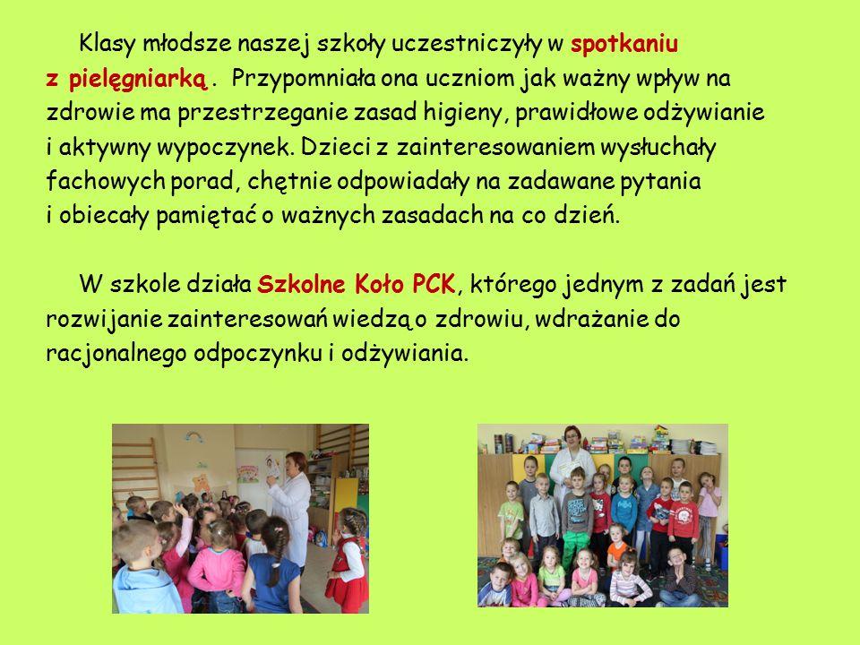 Klasy młodsze naszej szkoły uczestniczyły w spotkaniu z pielęgniarką.