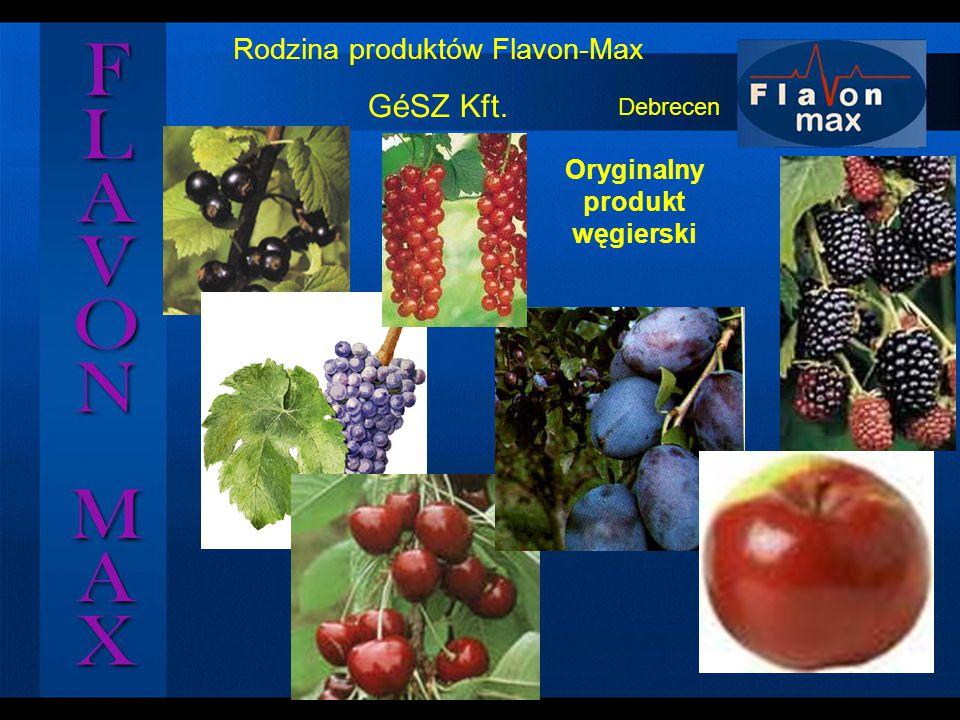 Rodzina produktów Flavon-Max GéSZ Kft. Oryginalny produkt węgierski Debrecen
