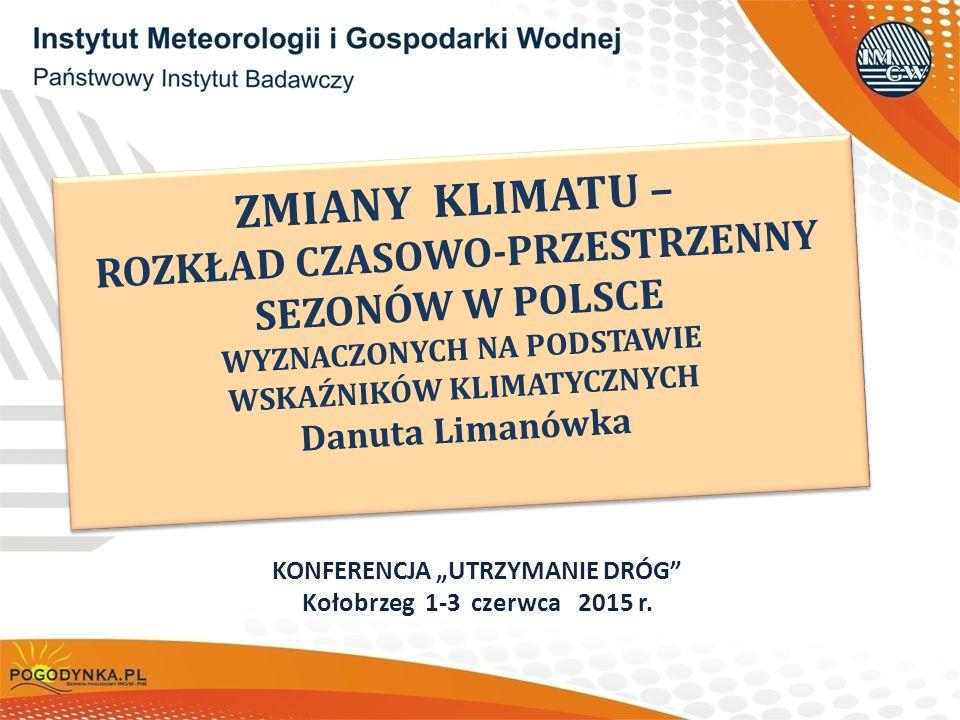 12 ZMIENNOŚĆ KLIMATU POLSKI Średnia obszarowa temperatura powietrza w Polsce w okresie 1951-2010