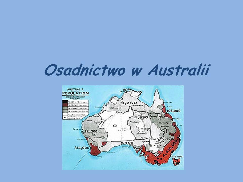 Australia została zasiedlona przez ludność europejską, głównie pochodzenia brytyjskiego.
