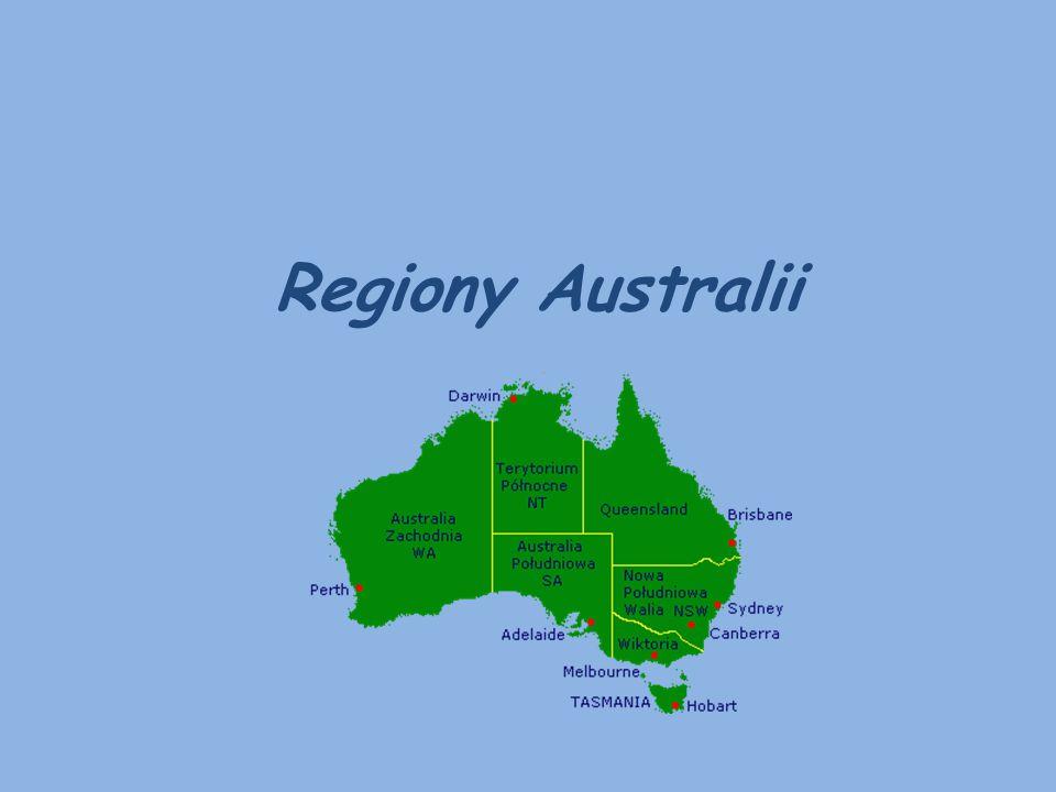 Australia – regiony : Australia jest krajem leżącym na kontynencie o tej samej nazwie.