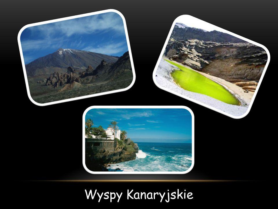 WYSPY KANARYJSKIE Archipelag górzystych wysp pochodzenia wulkanicznego położonych na Oceanie Atlantyckim na północny zachód od wybrzeży Afryki.