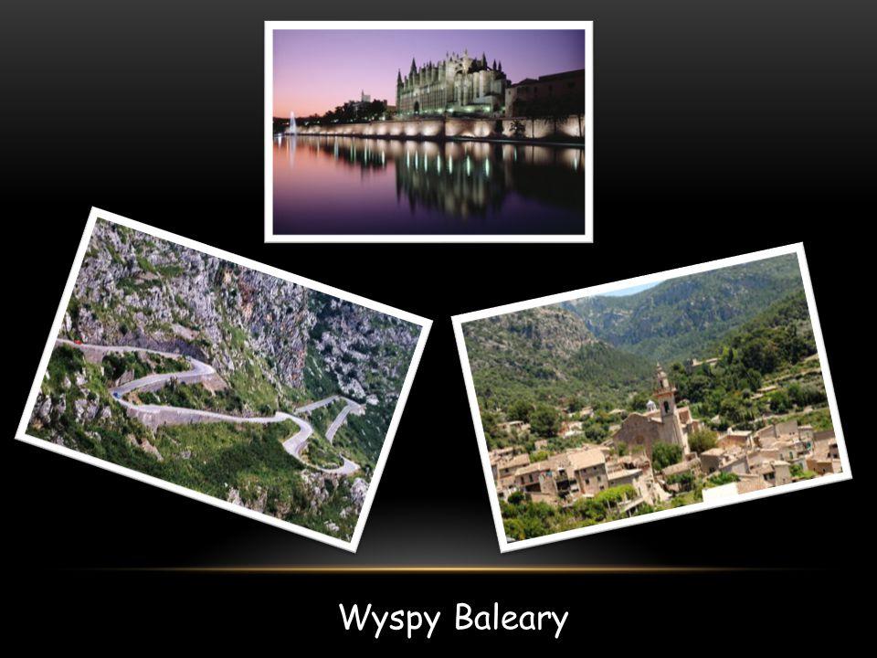 BALEARY Baleary – archipelag w zachodniej części Morza Śródziemnego, w pobliżu wschodniego wybrzeża Hiszpanii, o powierzchni 5 014 km².