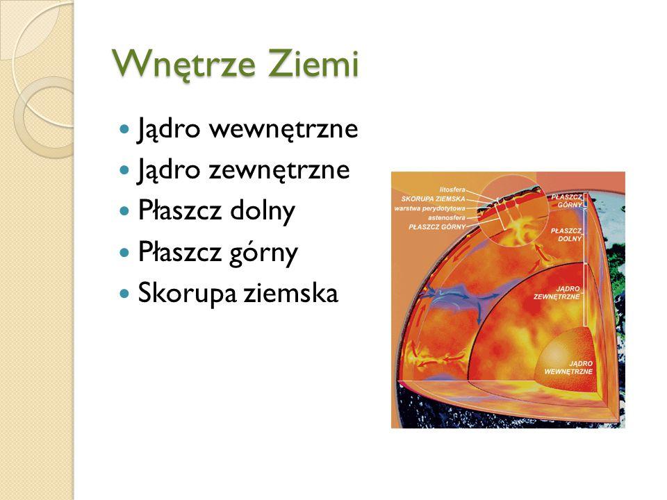 Jądro Badania wykazują, że jądro zewnętrzne ma cechy ciała ciekłego, natomiast wewnętrzne zachowuje się jak ciało stałe.