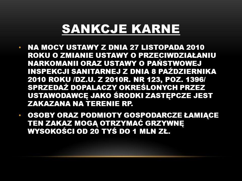 PRAWA AUTORSKIE -TREŚCI MERTORYCZNE ZACZERPNIĘTO ZE STRONY www.dopalaczeinfo.plwww.dopalaczeinfo.pl -ZDJĘCIA POCHODZĄ ZE STRON INTERNETOWYCH : www.elblag24.pl www.zsbaniocha.mgk.pl www.zsswidniarsko.chelmiec.iap.pl www.w938.wrzuta.pl
