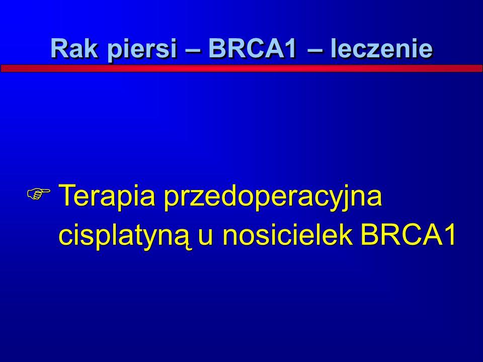  Terapia przedoperacyjna cisplatyną u nosicielek BRCA1 Rak piersi – BRCA1 – leczenie
