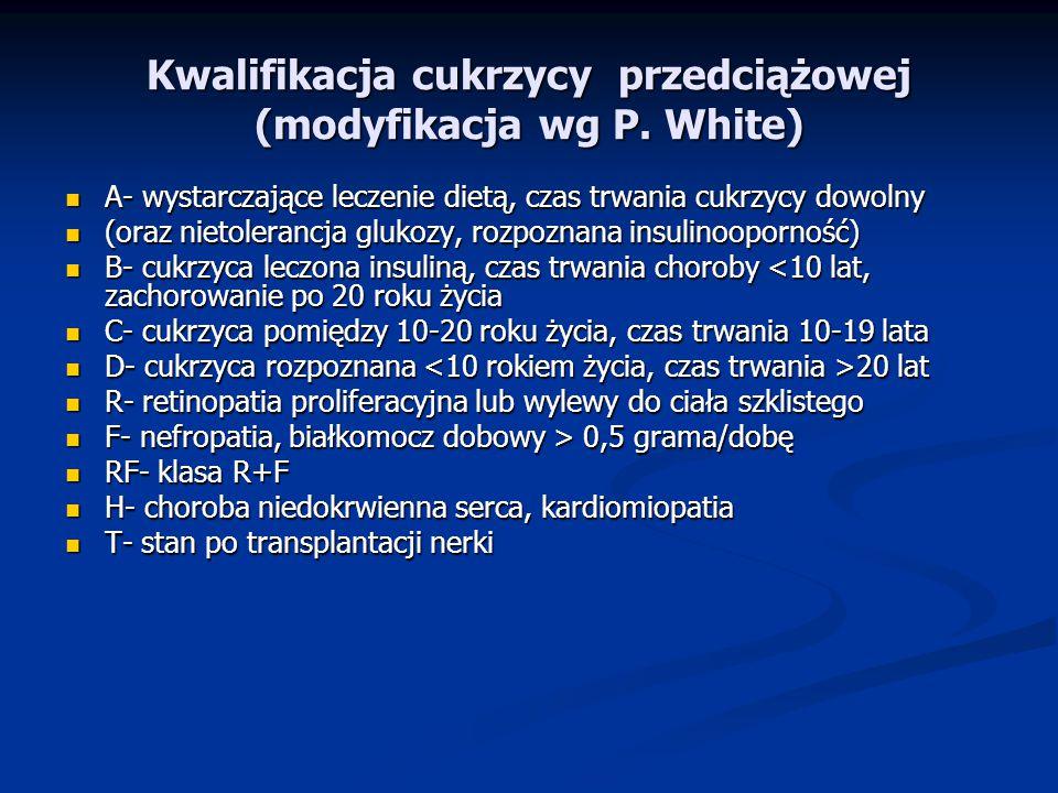 Kwalifikacja cukrzycy przedciążowej (modyfikacja wg P.