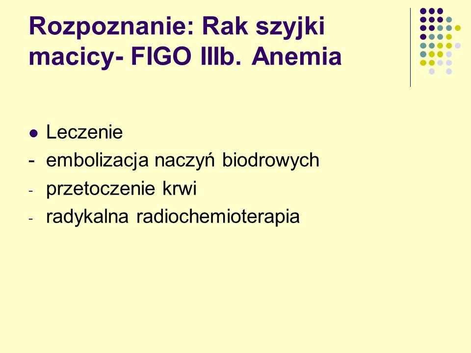 Rozpoznanie: Rak szyjki macicy- FIGO IIIb.