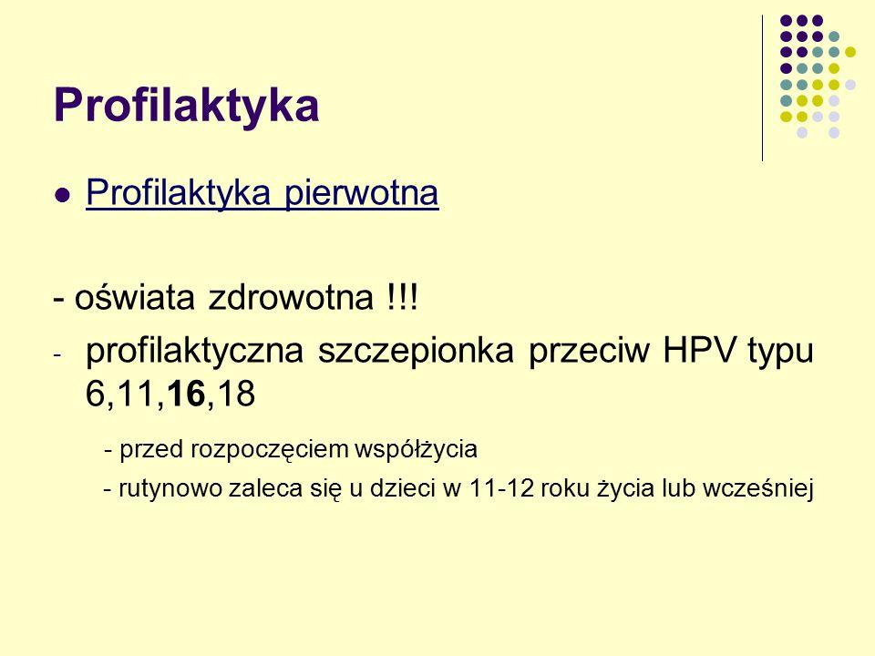 Profilaktyka Profilaktyka pierwotna - oświata zdrowotna !!.