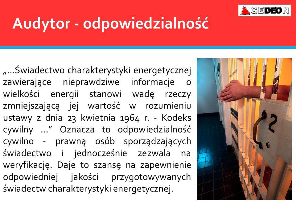 """""""…Świadectwo charakterystyki energetycznej zawierające nieprawdziwe informacje o wielkości energii stanowi wadę rzeczy zmniejszającą jej wartość w roz"""