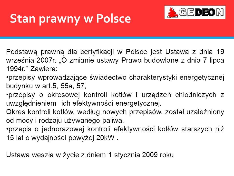 Wygląd świadectwa energetycznego wg Rozporządzenia Ministra Infrastruktury z dnia 6.11.2008