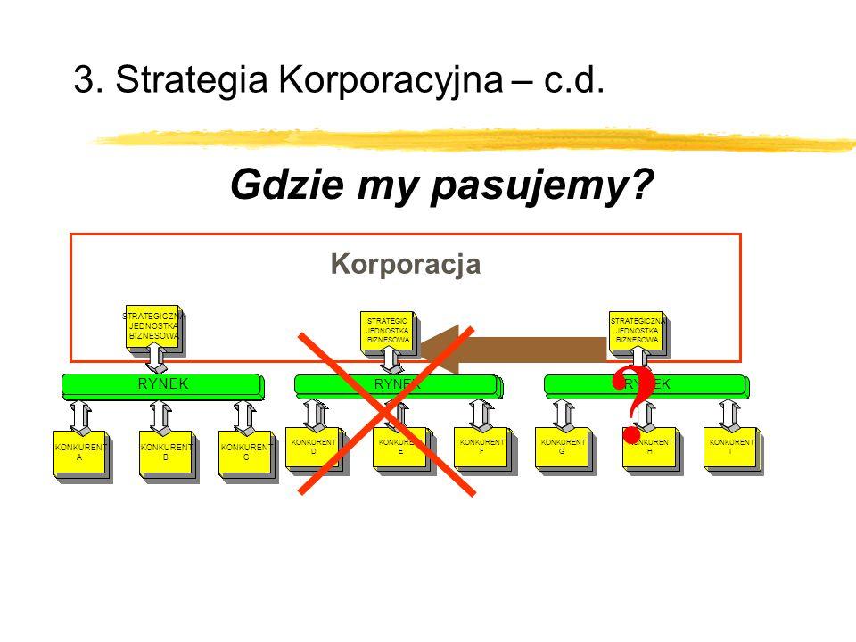 Corporation 3. Strategia Korporacyjna – c.d. Gdzie my pasujemy.