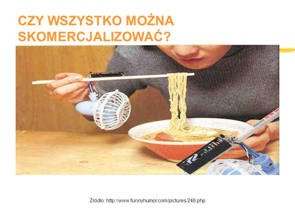CZY WSZYSTKO MOŻNA SKOMERCJALIZOWAĆ Źródło: http://www.funnyhumor.com/pictures/248.php