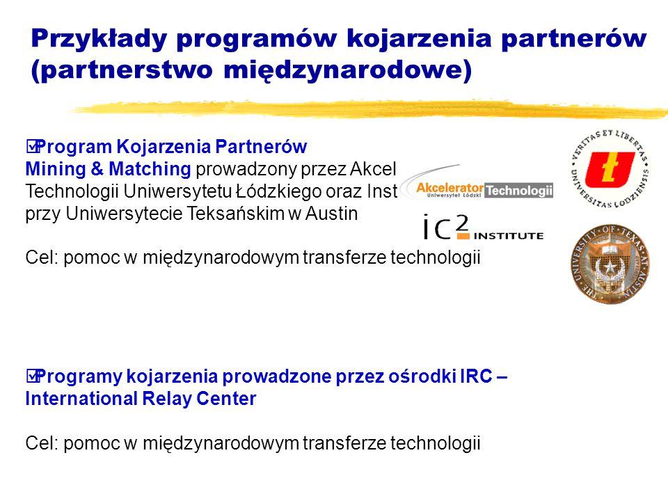  Program Kojarzenia Partnerów Mining & Matching prowadzony przez Akcelerator Technologii Uniwersytetu Łódzkiego oraz Instytut IC2 przy Uniwersytecie