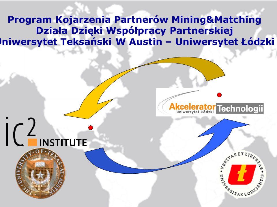 Program Kojarzenia Partnerów Mining&Matching Działa Dzięki Współpracy Partnerskiej Uniwersytet Teksański W Austin – Uniwersytet Łódzki