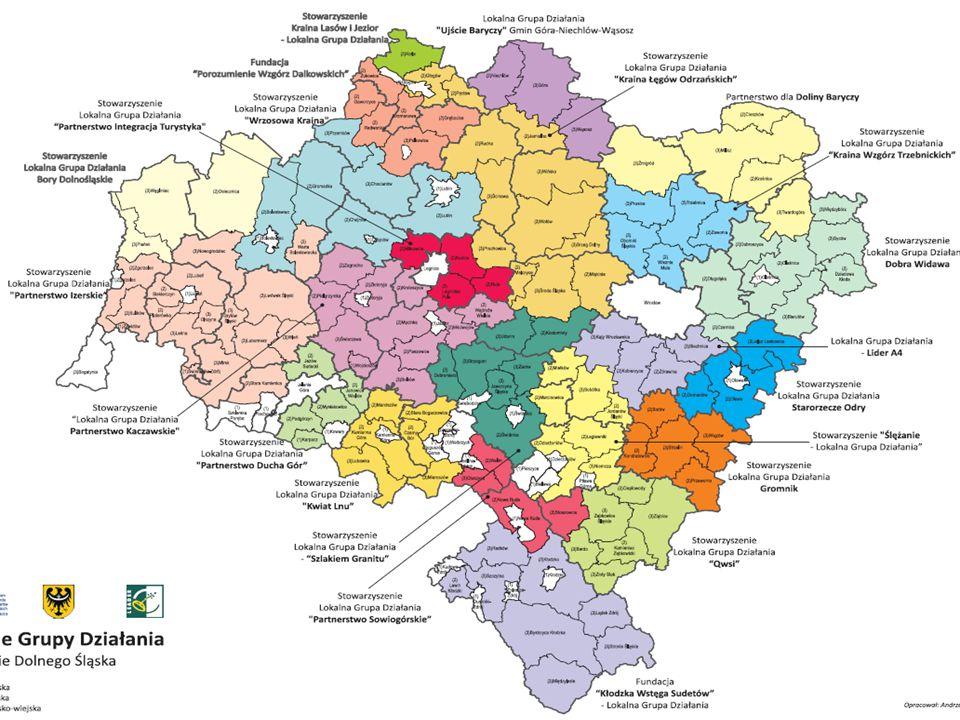 PROW na lata 2007-2013 - Oś.4 LEADER Lokalne Grupy Działania w Polsce LGD międzywojewódzkie