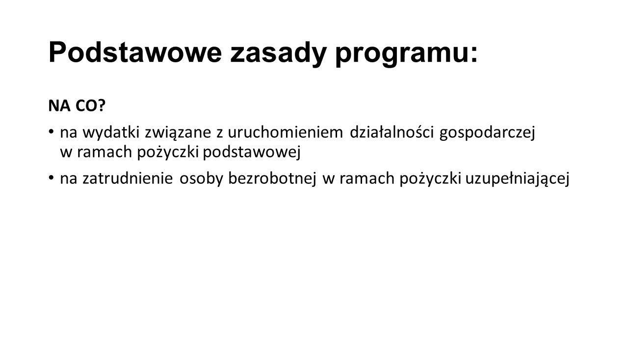 Podstawowe zasady programu: NA CO.