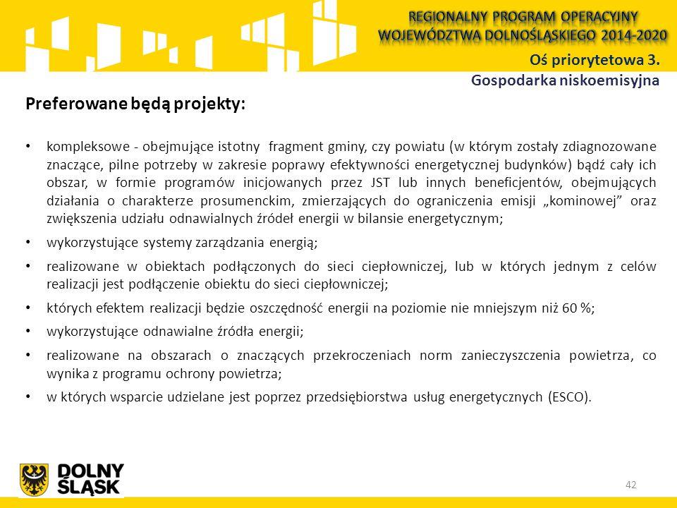 Preferowane będą projekty: kompleksowe - obejmujące istotny fragment gminy, czy powiatu (w którym zostały zdiagnozowane znaczące, pilne potrzeby w zak