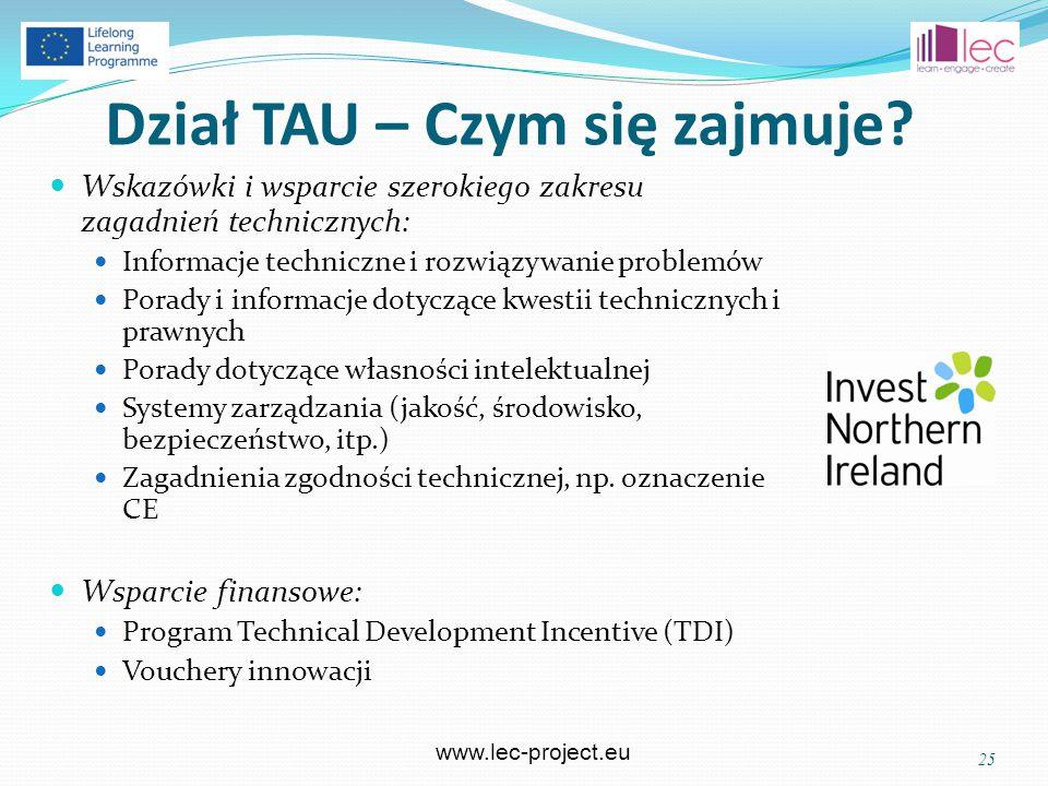 www.lec-project.eu Dział TAU – Czym się zajmuje.