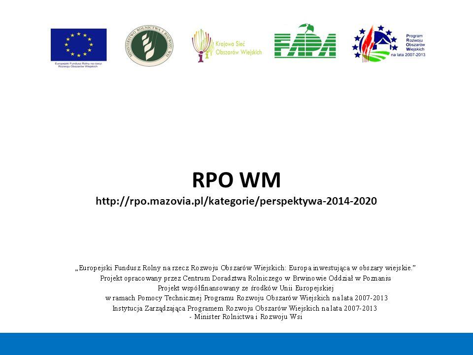 RPO WM http://rpo.mazovia.pl/kategorie/perspektywa-2014-2020