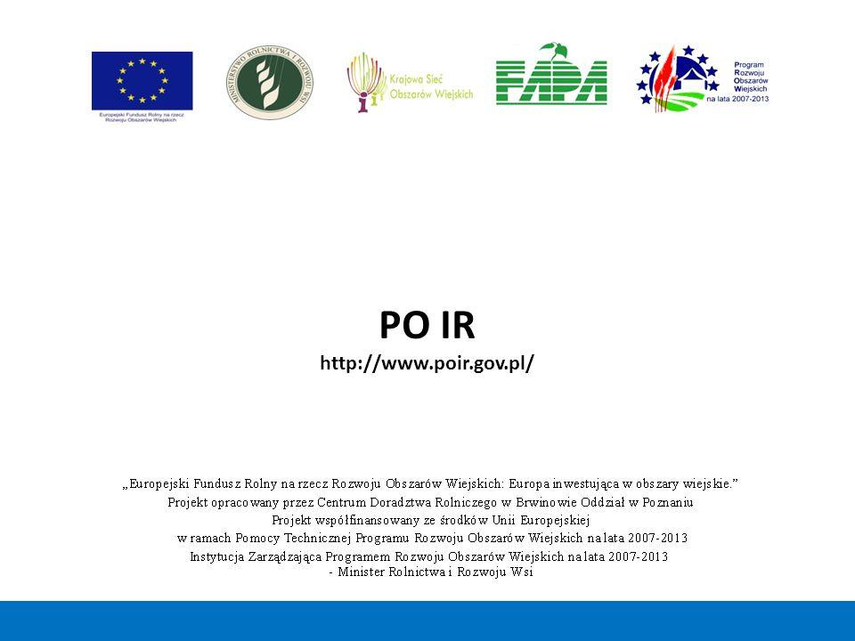 PO IR http://www.poir.gov.pl/