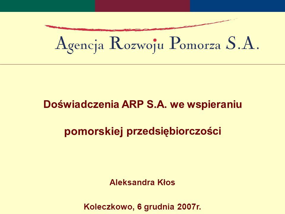 Doświadczenia ARP S.A.