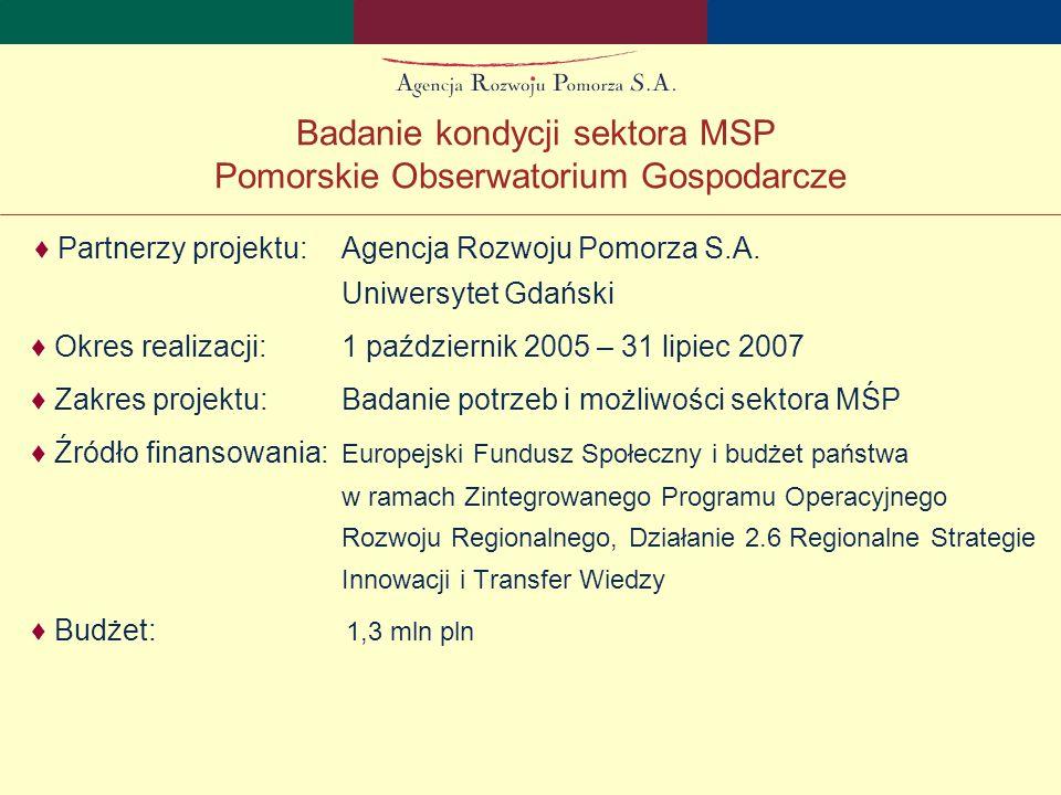 ♦ Partnerzy projektu:Agencja Rozwoju Pomorza S.A.