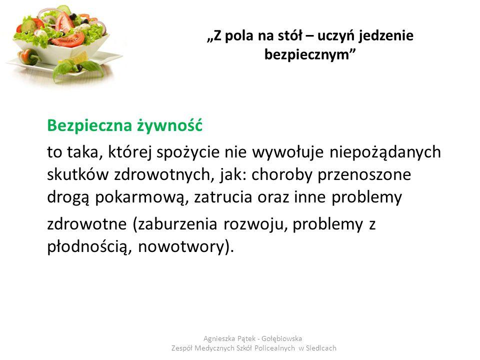 """""""Z pola na stół – uczyń jedzenie bezpiecznym Nie kupuj produktów częściowo rozmrożonych np."""