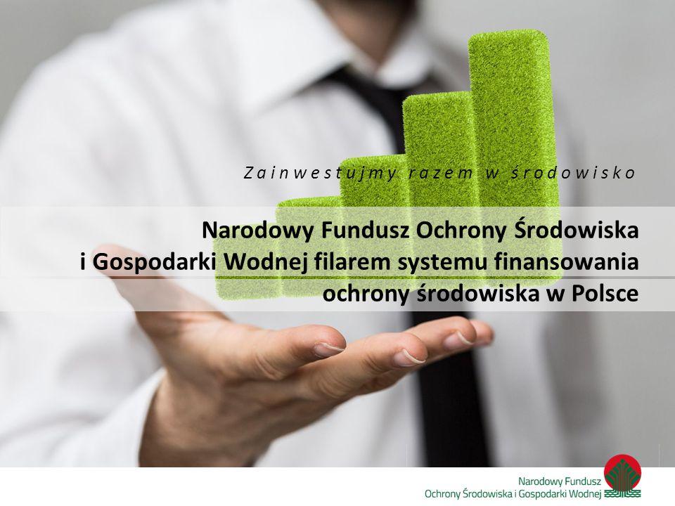 Zainwestujmy razem w środowisko Dokumenty określające kierunki wsparcia przez NFOŚiGW Ustawa Prawo ochrony środowiska Wspólna Strategia działania Narodowego Funduszu i wojewódzkich funduszy ochrony środowiska i gospodarki wodnej na lata 2013-2016 z perspektywą do 2020 roku Strategia działania NFOŚiGW na lata 2013 – 2016 z perspektywą do 2020 roku Programy priorytetowe NFOŚiGW