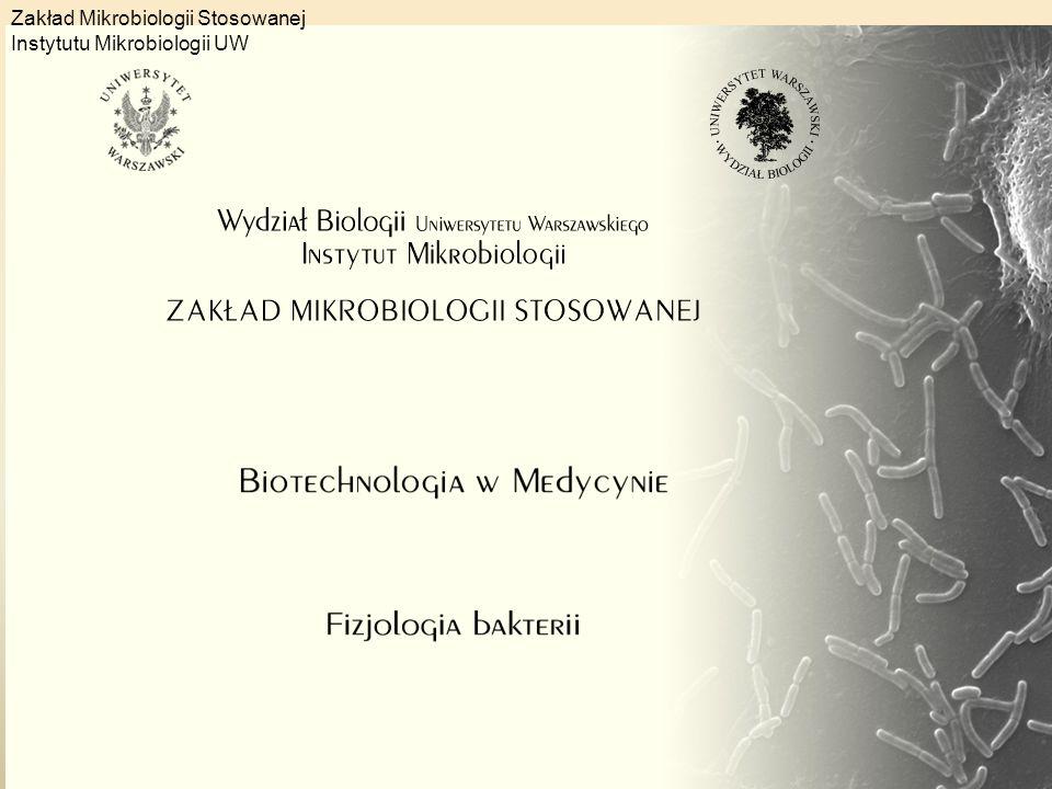 GRUPA BADAWCZA – FIZJOLOGIA BAKTERII w Zakładzie Mikrobiologii Stosowanej 2014-2015 dr hab.