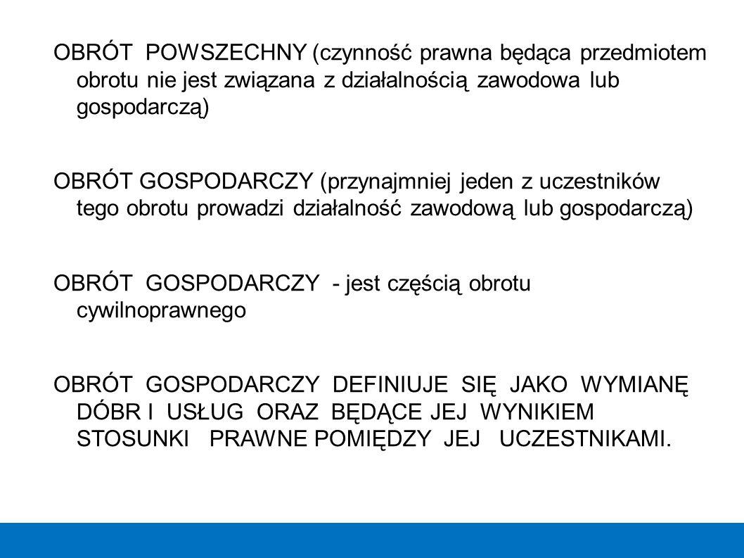 KLASYFIKACJA SPÓŁEK c.d.B. SPÓŁKI HANDLOWE 1) Spółkę jawną, uregulowaną przepisami art.