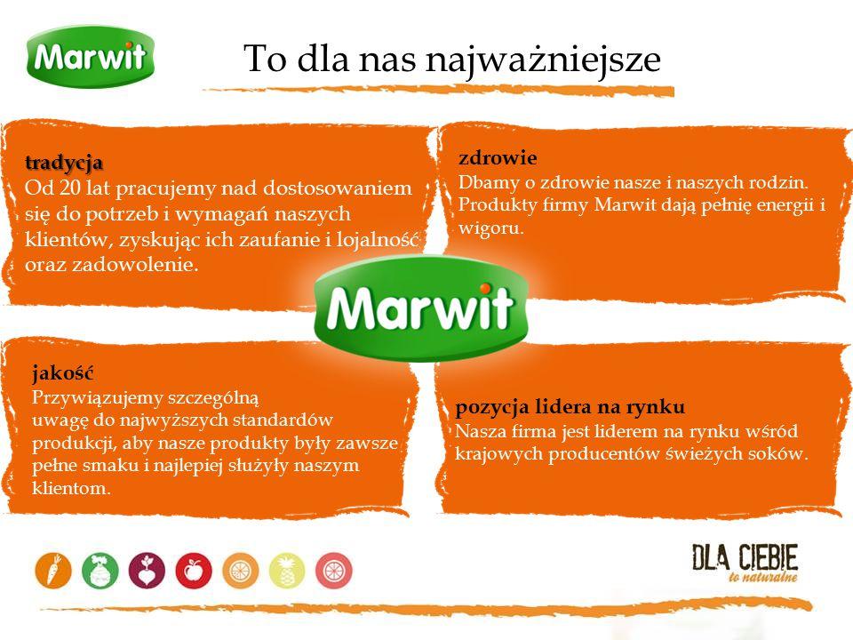 To dla nas najważniejsze zdrowie Dbamy o zdrowie nasze i naszych rodzin. Produkty firmy Marwit dają pełnię energii i wigoru. jakość Przywiązujemy szcz