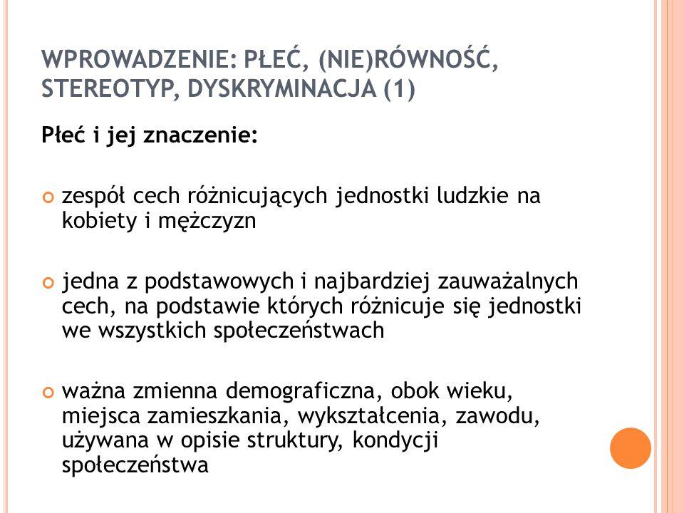 WIĘCEJ INFORMACJI Zasada równości szans kobiet i mężczyzn w projektach PO KL, MRR, 2009 Plan działań na rzecz równości kobiet i mężczyzn 2006–2010, Komisja Europejska Polityka równości płci - Polska, UNDP, 2007 Praktyczny poradnik w zakresie równego traktowania kobiet i mężczyzn w funduszach strukturalnych, MPiPS, 2003 Wdrażanie perspektywy równości szans kobiet i mężczyzn w projektach Europejskiego Funduszu Społecznego, Fundacja Fundusz Współpracy, 2008