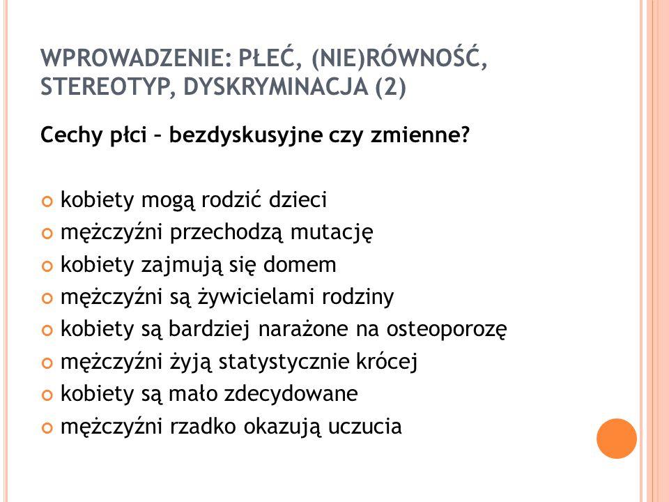 RÓWNOŚĆ PŁCI W PROGRAMACH OPERACYJNYCH (1) Art.3.