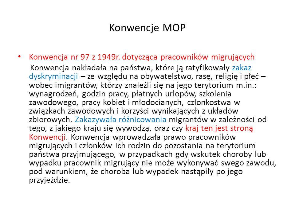 Konwencje MOP Konwencja nr 97 z 1949r.