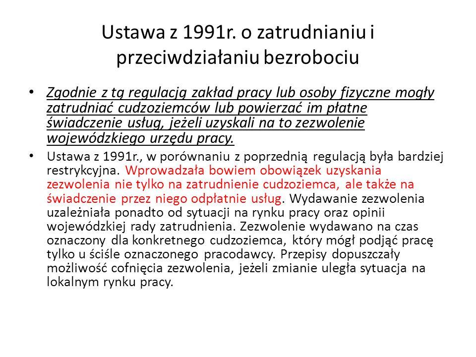Ustawa z 1991r.