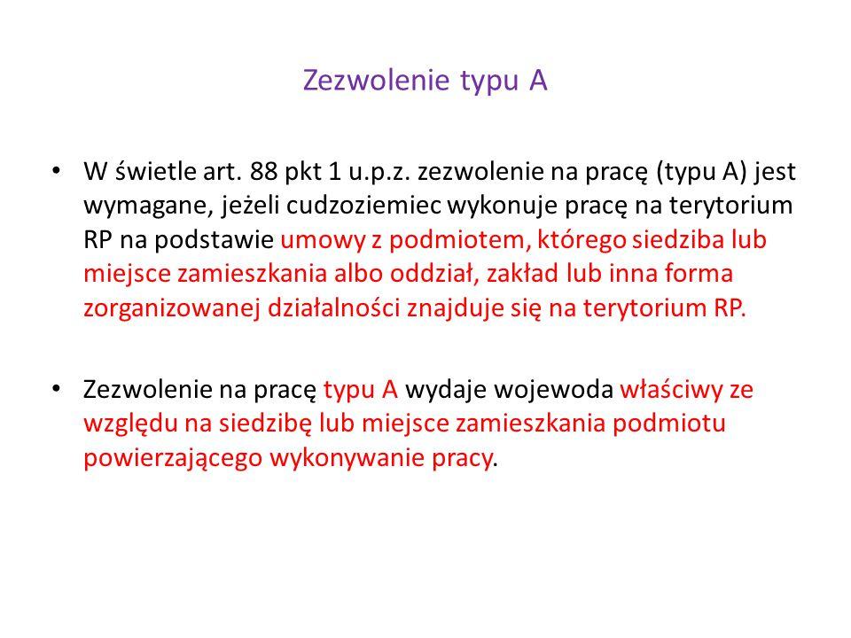 Zezwolenie typu A W świetle art.88 pkt 1 u.p.z.