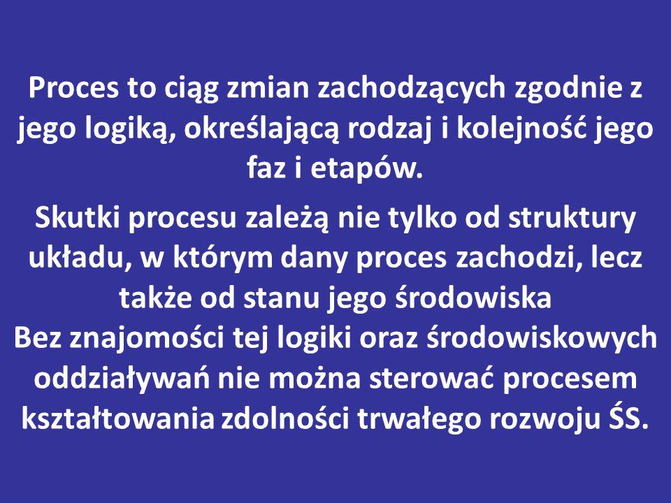 Proces to ciąg zmian zachodzących zgodnie z jego logiką, określającą rodzaj i kolejność jego faz i etapów.