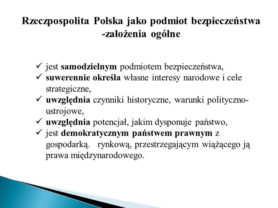 Interesy narodowe i cele strategiczne Art.5.