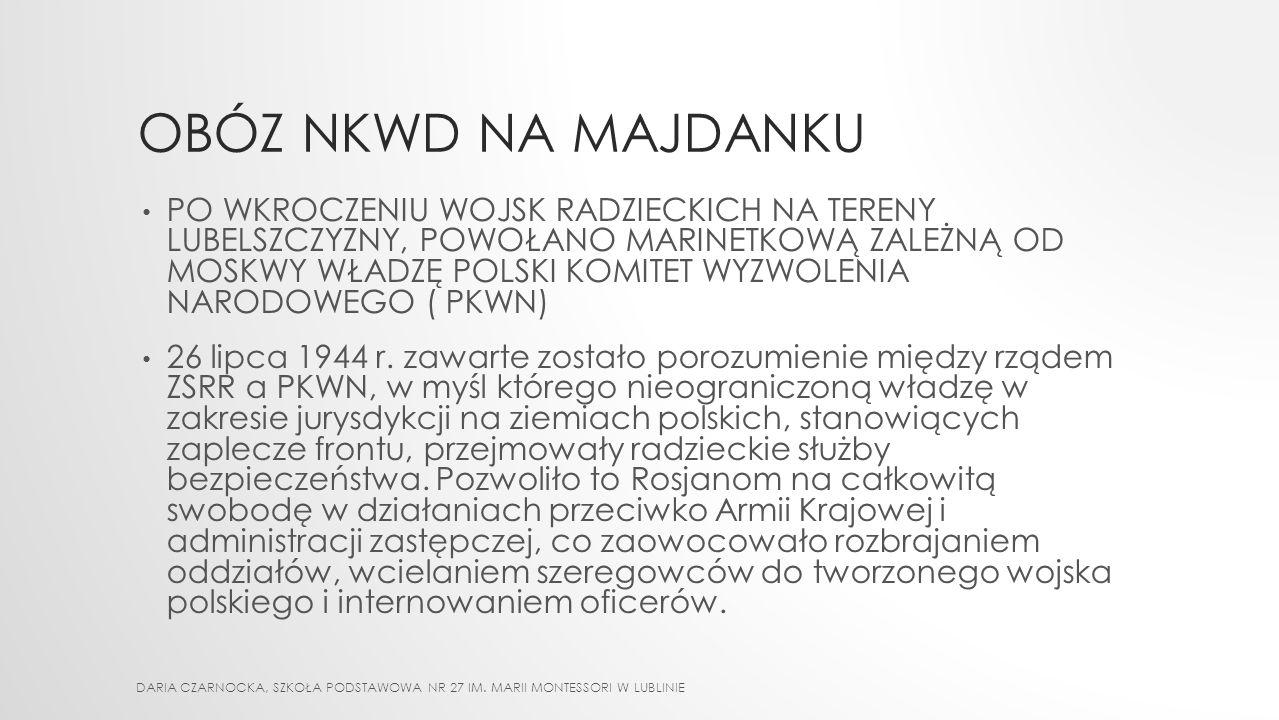 PARADOKS HISTORII DARIA CZARNOCKA, SZKOŁA PODSTAWOWA NR 27 IM. MARII MONTESSORI W LUBLINIE