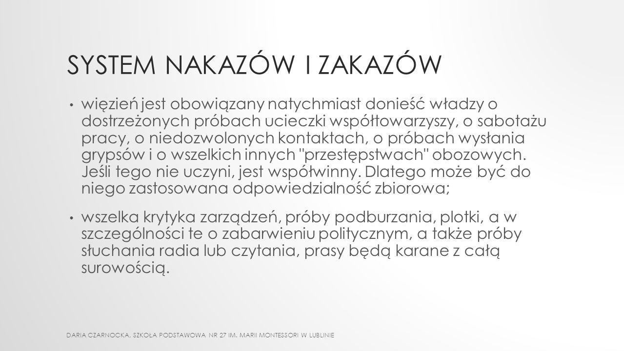 SZUBIENICA DARIA CZARNOCKA, SZKOŁA PODSTAWOWA NR 27 IM. MARII MONTESSORI W LUBLINIE