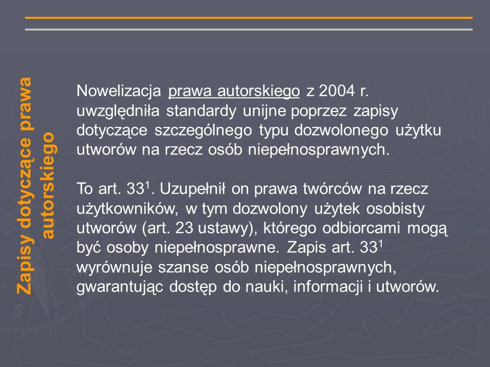Nowelizacja prawa autorskiego z 2004 r.