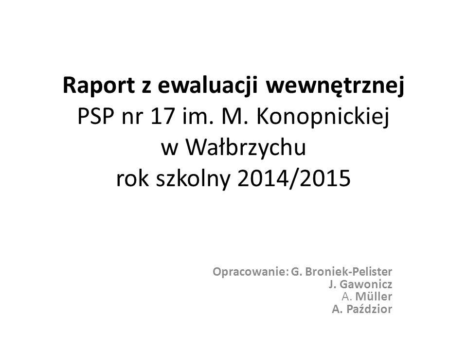 Raport z ewaluacji wewnętrznej PSP nr 17 im. M.