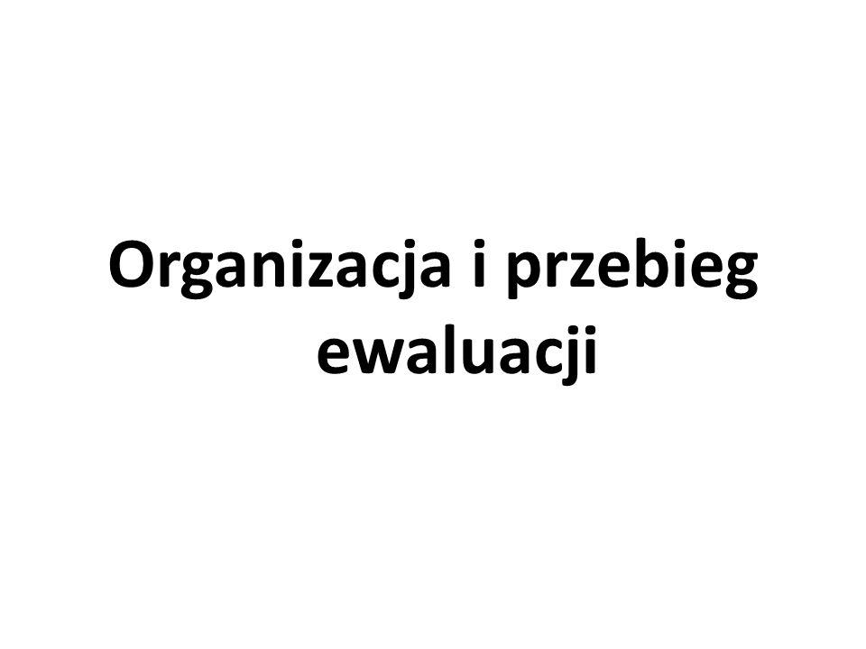 Organizacja i przebieg ewaluacji
