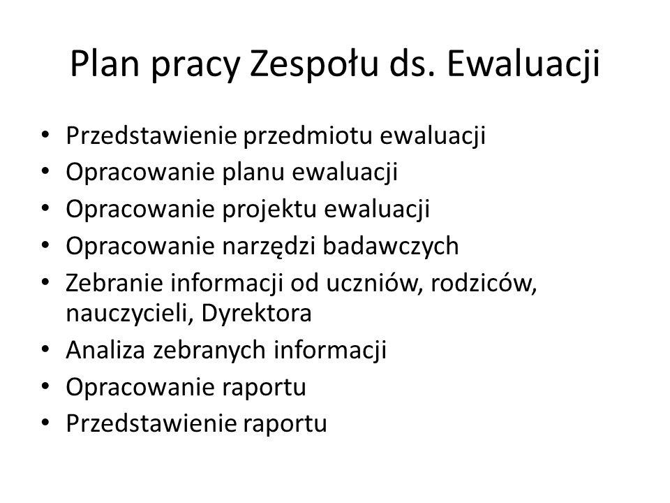 Plan pracy Zespołu ds.