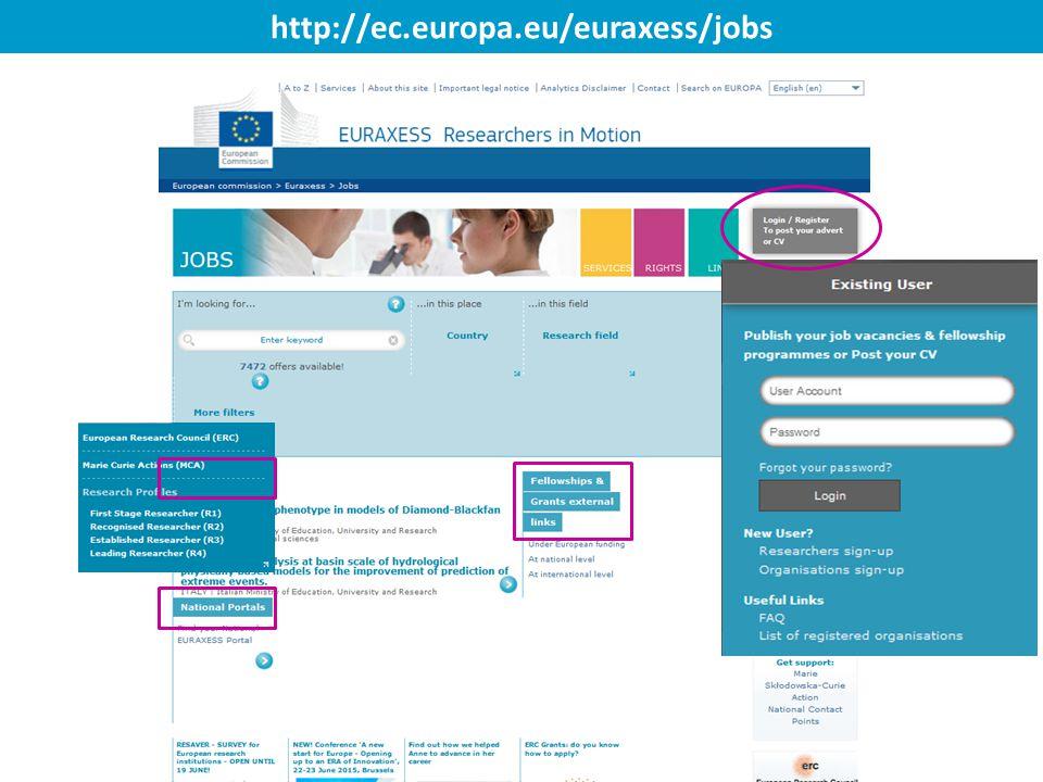 http://ec.europa.eu/euraxess/jobs